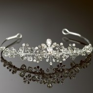 Crystal and diamante tiara on a silver band