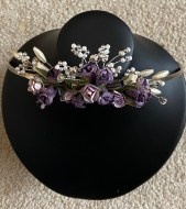 Purple flower tiara