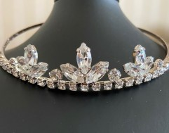 Simple crystal and diamante tiara